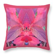 Fall Blueberry Leaves Throw Pillow