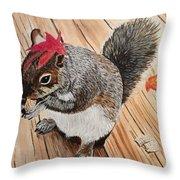 Fall Bonnet Throw Pillow