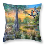Fall Bounty- Big Cypress Swamp  Throw Pillow