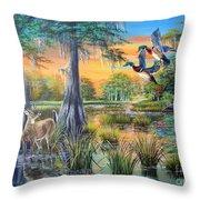 Fall Bounty- Big Cypress Swamp  Throw Pillow