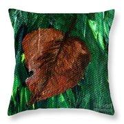 Fall Brown Leaf Throw Pillow