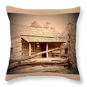 Fall Cabin Throw Pillow