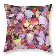 Fall Carpet Throw Pillow