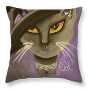 Fall Cat Throw Pillow