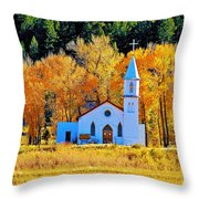 Fall Church Throw Pillow
