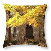 Fall Church Throw Pillow