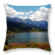 Fall Color At Trout Lake Throw Pillow