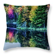 Fall Color Explosion Throw Pillow