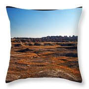 Fall Color In The Badlands Throw Pillow