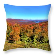 Fall Color On The Fulton Chain Of Lakes Throw Pillow