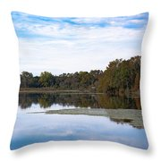 Fall Color On The Pond Throw Pillow