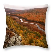 Fall Colors - Lake Of The Clouds Throw Pillow