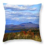 Fall Colors At Lake Carmi Throw Pillow