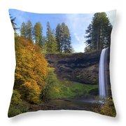 Fall Colors At South Falls Throw Pillow