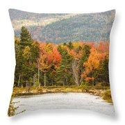 Fall Colors By The Lake Throw Pillow