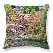 Fall Colors In Depth Throw Pillow