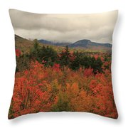 Fall Colors In White Mountains New Hampshire Throw Pillow