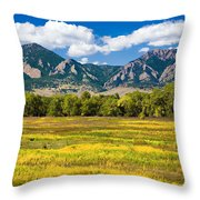 Fall Colors Of Boulder Colorado Throw Pillow