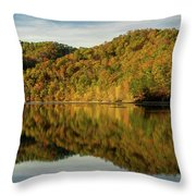 Fall Colors On Lake Reflection Throw Pillow