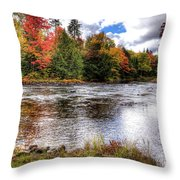 Fall Colors On The Moose River Throw Pillow
