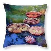 Fall Colors On The Pond Throw Pillow