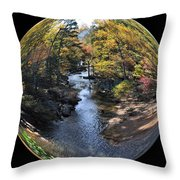 Fall With A Twist Throw Pillow