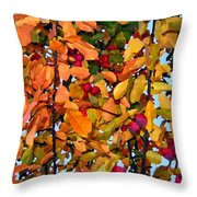 Fall Crab Apples Throw Pillow