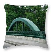 Fall Creek Gorge Bridge Cornell University Ithaca New York Throw Pillow