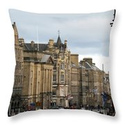 Fall Day In Edinburgh Throw Pillow