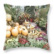 Fall Decorating At The Market Throw Pillow