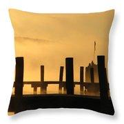Fall Docks Marker Throw Pillow