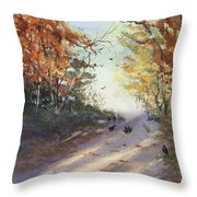 Fall Early Morning Throw Pillow