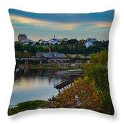 Fall Evening In Richmond Throw Pillow