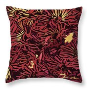 Fall Fantasy Flowers Throw Pillow