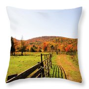 Fall Farm #4 Throw Pillow