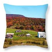 Fall Farm No. 7 Throw Pillow