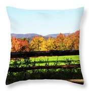Fall Farm No. 8 Throw Pillow
