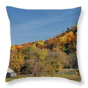 Fall Farmyard Throw Pillow