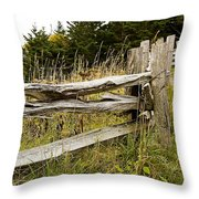 Fall Fencing Throw Pillow