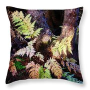 Fall Ferns Throw Pillow