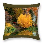 Fall Fireworks Throw Pillow