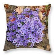 Fall Flowers Throw Pillow