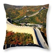 Fall Foliage At The Great Wall Throw Pillow