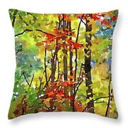 Fall Forest 2 Throw Pillow