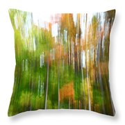 Fall Forest Colors Throw Pillow