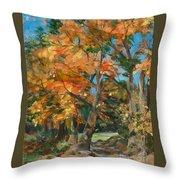 Fall Glory Throw Pillow