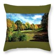Fall Golf Course Beauty Throw Pillow