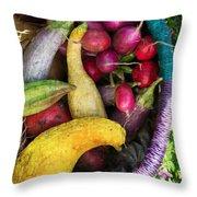 Fall Harvest Basket Throw Pillow