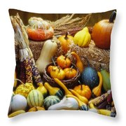 Fall Harvest Throw Pillow