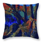 Fall Hiking Trail 1 Throw Pillow